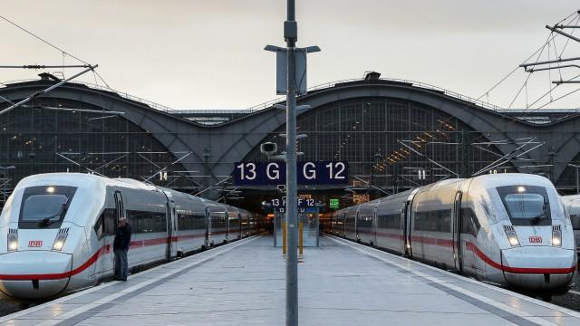 Warnstreik bei der Deutschen Bahn - Leipzig