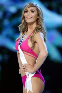 Miss Spain Angela Ponce in her swimsuit during the Miss Universe 2018 preliminary round in Bangkok