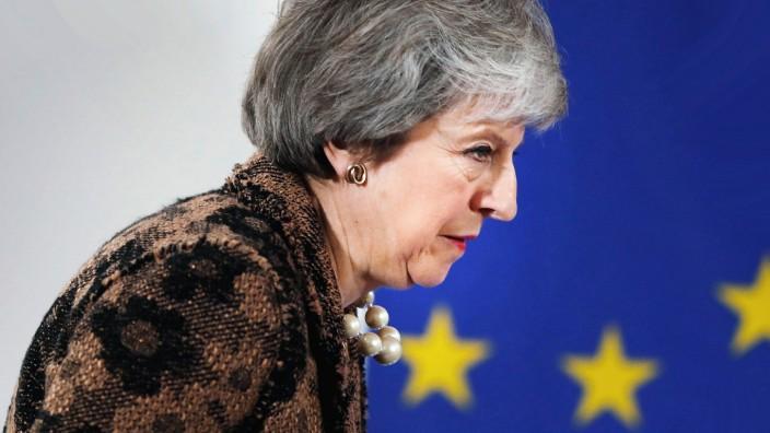 Theresa May auf dem EU-Gipfel 2018 in Brüssel