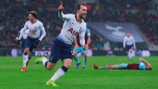 Christian Eriksen von Tottenham Hotspur feiert einen Treffer