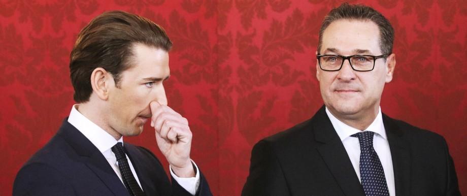 Sebastian Kurz (ÖVP) und Heinz-Christian Strache (FPÖ) 2017 in Wien