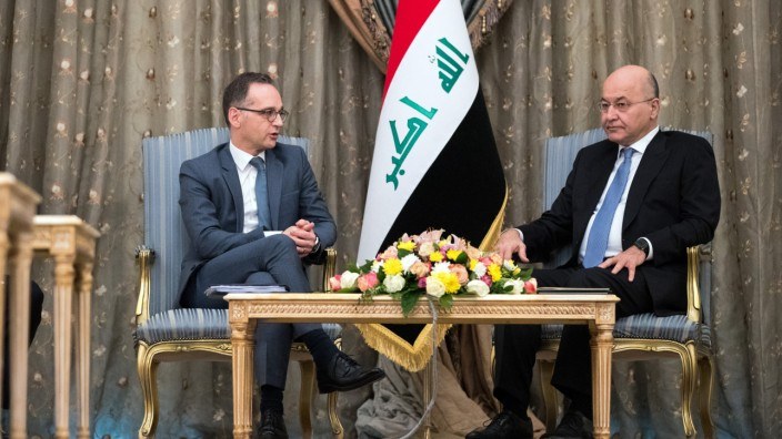 Außenminister Heiko Maas 2018 zu Besuch im Irak