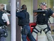 Polizisten, Västberga, dpa