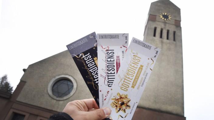 Heiligabend-Gottesdienst nur mit Eintrittskarte