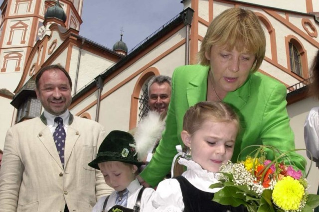Angela Merkel in Andechs, 2002