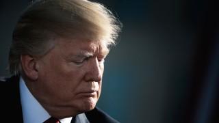 US President Donald Trump attends 9/11 Memorial at the Pentagon