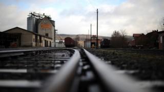 Stillgelegte Eisenbahngleise in Naumburg