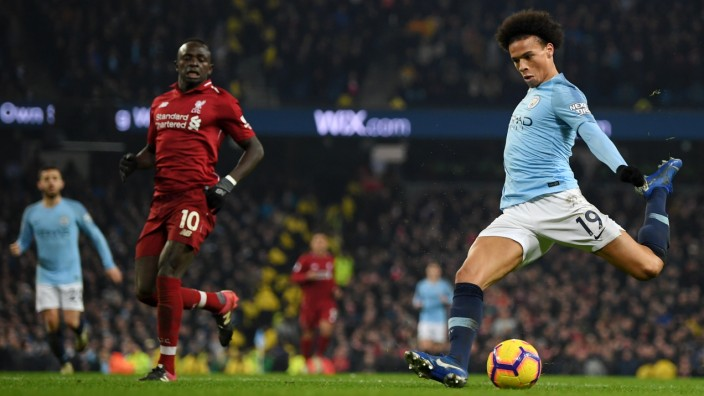 Manchester City FC Liverpool Sane