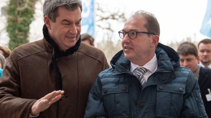 03 01 2019 POLITIK Dr Markus Söder Bayerischer Ministerpräsident und Alexander Dobrindt Vor