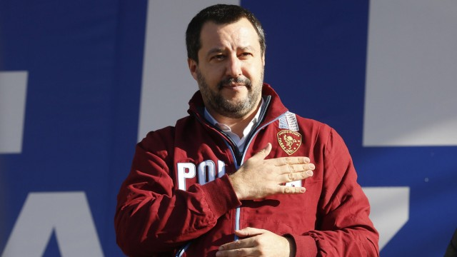 Matteo Salvini leader of Lega Nord party and Minister of Internal Affairs Rome December 8th 2018 R