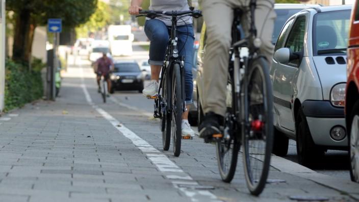 Radfahrer Grüner Pfeil