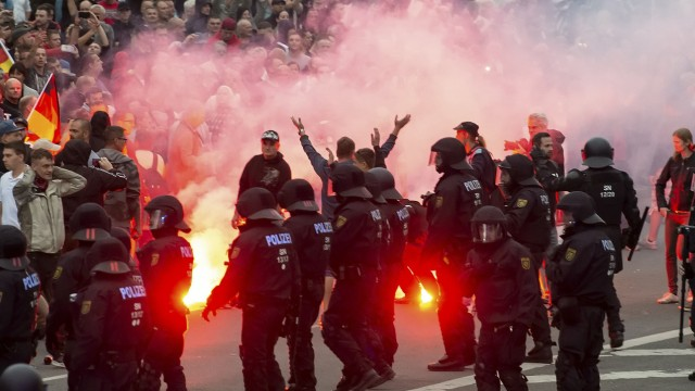 Chemnitz - Fremdenfeindliche Demonstration im Sommer 2018