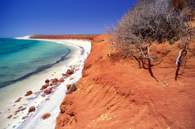 Rote Küstenlandschaft bei South Gregories im Francois Peron Nationalpark Australien