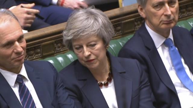 Theresa May während einer Brexit-Debatte im Unterhaus