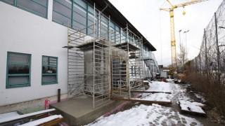 Bauarbeiten an der Eissporthalle