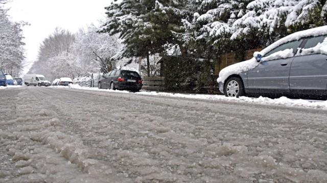 Verschneite Straßen Verschneite Straßen