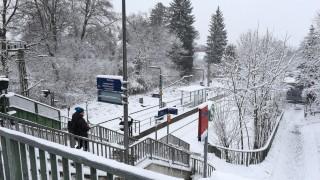 Verkehr in München Schneefall