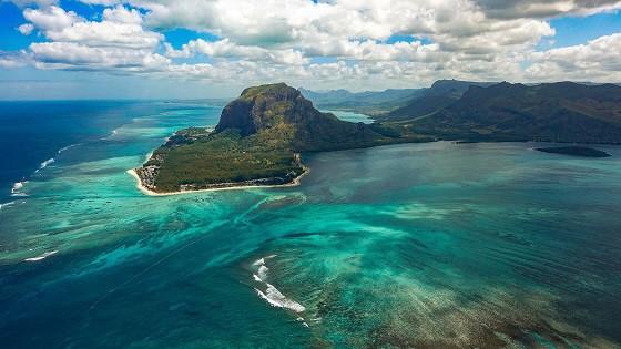 Die Insel Mauritius im Indischen Ozean