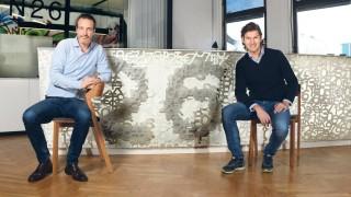 Tagesspiegel Köpfe N26 Mobile Bank Valentin Stalf und Maximilian Tayenthal mit Bart Berlin Berl