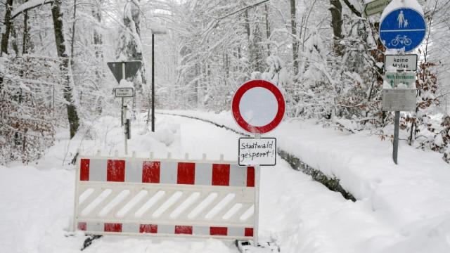 Schneefälle Bad Tölz-Wolfratshausen Schneetreiben
