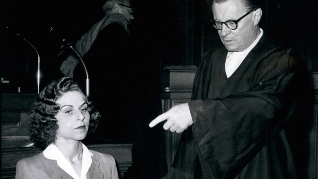 Jun 06 1957 Gestapo agent at the court On June 20th the trial against the 34 years old Stella K