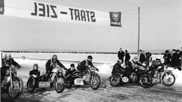 Eisrennen auf dem Ammersee 1963
