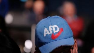 AfD-Anhänger bei der Europawahlversammlung 2018 in Magdeburg
