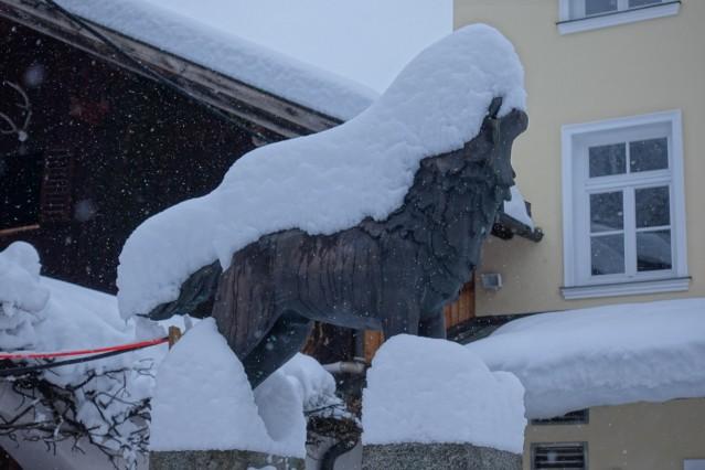 Schneekatastrophe, Schneemassen, Schneefall, Schnee im Landkreis Bad Tölz-Wolfratshausen, hier der Wolfratshauser Wolf