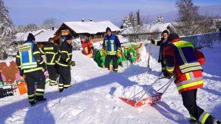 Feuerwehr Dachau hilft in Holzkirchen