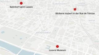 Karte Explosion in Paris