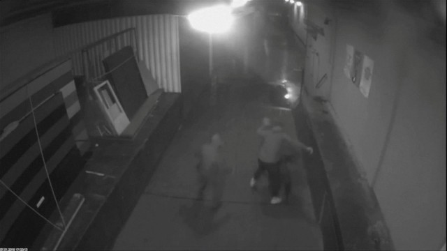A still image taken from the surveillance recording shows the attack on Alternative for Germany (AfD) politician Frank Magnitz, in Bremen
