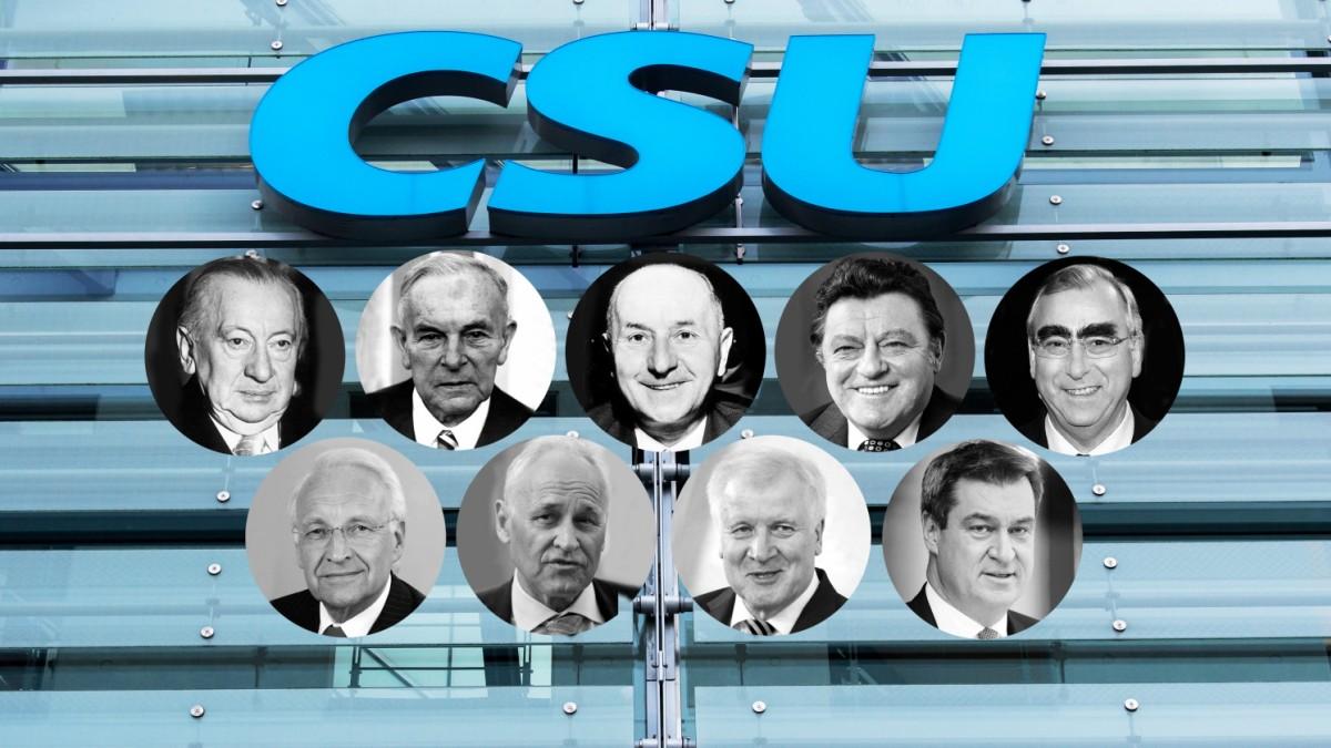 CSU-Vorsitzende: Vom Ochsensepp bis Markus Söder