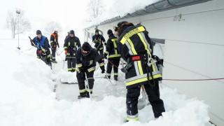 Dachauer Hilfskontingent im Landkreis Miesbach Feuerwehr Landkreis Dachau Schneefälle Katastrophenalarm