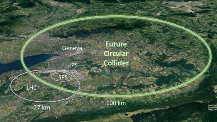 Cern - Vorschlag für 100-Kilometer-Teilchenbeschleuniger
