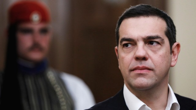 Swearing-in ceremony of newly appointed Greek Defence Minister Evangelos Apostolakis, in Athens