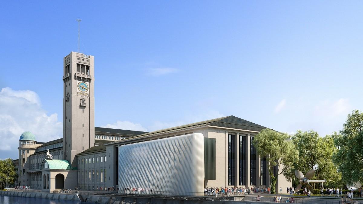 München: Neue Fassade für das Deutsche Museum