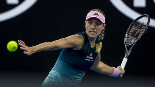 MELBOURNE AUSTRALIA JANUARY 16 Angelique Kerber of ÊGermany returns a shot during day 3 of the