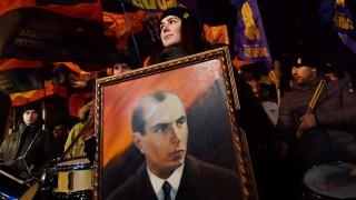 Porträt des ukrainischen Separatisten Stepan Bandera