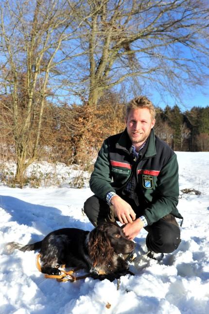 Gauting neuer Forstreviermeister Markus Noack und Hund Findus