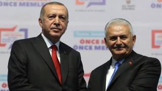 Türkei - Präsident Tayyip Erdogan und Parlamentspräsident Binali