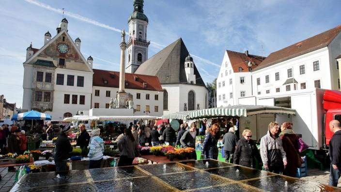 Wochenmarkt in Freising, 2013