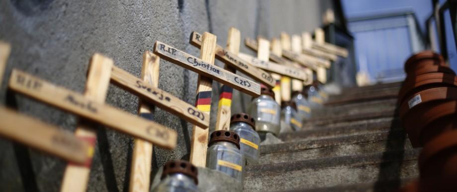 Loveparade - Gedenkstätte in Duisburg für die Opfer der Loveparade 2010