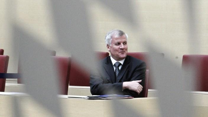 Horst Seehofer als Ministerpräsident im Bayerischen Landtag 2008