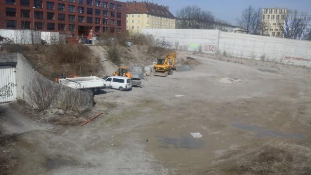 Baufeld MK2 Schwanthalerhöhe, an der ganghoferstraße