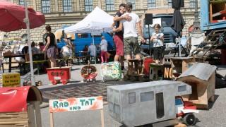 Kundgebung dreier alternativer Wohnprojekte in München, 2018