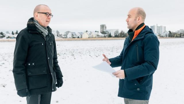 Ortstermin und Begehung der großen Freifläche an der Georg-Zech-Allee in Feldmoching am 15.01.2019.