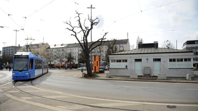 Verkehr in München Nymphenburg