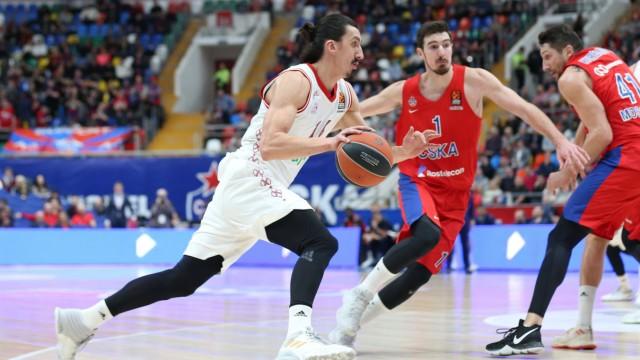 am Ball Nihad Djedovic 14 FC Bayern Basketball ZSKA Moskau vs FC Bayern Basketball Basketball