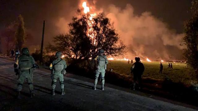 Explosion an Benzinpipeline in Mexiko