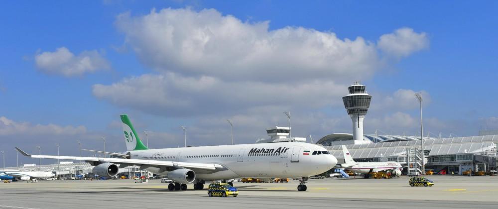 Mahan Air Airbus A 340 300 Tower Terminal 1 Flughafen München Oberbayern Bayern Deutschland